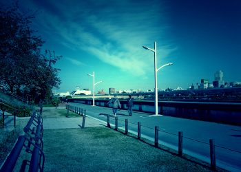 川,町,晴れ,秋,屋外,ホラー