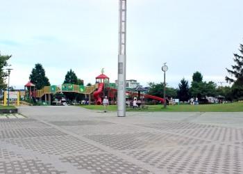 公園,町,夏,屋外,曇り
