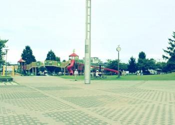 公園,町,夏,屋外,曇り,昭和レトロ