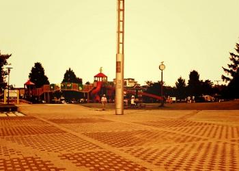 公園,町,夏,屋外,曇り,ヴィンテージ