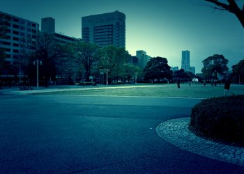 公園,都市,屋外,冬,曇り,ホラー