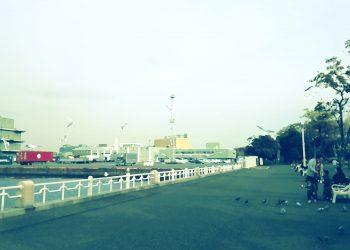 港,都市,公園,屋外,秋,曇り,昭和レトロ