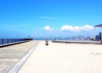 港,町,屋外,晴れ,夏