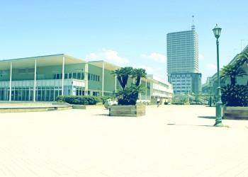 建物前,都市,屋外,晴れ,夏,昭和レトロ