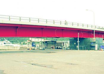 橋,港町,屋外,冬,曇り,昭和レトロ