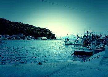 港町,屋外,冬,曇り,ホラー