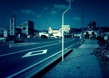 港町,町,道路,晴れ,夏,屋外,ホラー