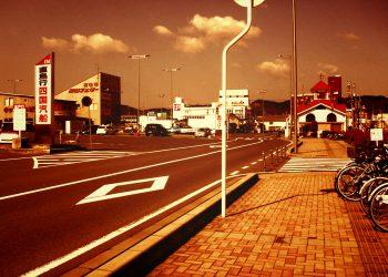 港町,町,道路,晴れ,夏,屋外,ヴィンテージ