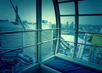 乗り物,観覧車,都市,曇り,ホラー