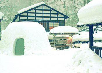 日本家屋,村,和,屋外,冬,雪,昭和レトロ
