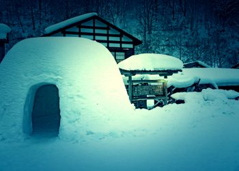 日本家屋,村,和,屋外,冬,雪,和風伝奇,ホラー