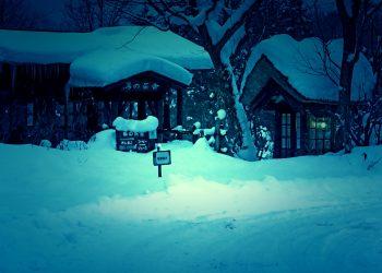 日本家屋,村,和,屋外,冬,雪,ホラー,和風伝奇