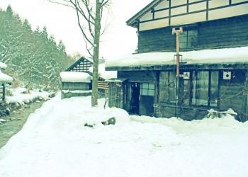 日本家屋,村,冬,屋外,雪,昭和レトロ