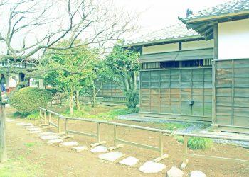 日本家屋,日本庭園,村,屋外,冬,曇り,昭和レトロ