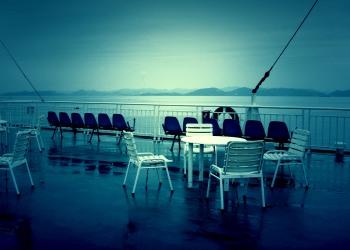 乗り物,船,夏,屋外,雨,ホラー