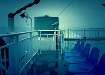 乗り物,船,屋外,雨,夏,ホラー