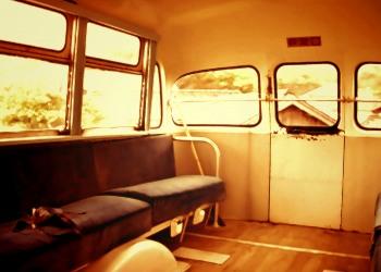 乗り物,バス,屋内,ヴィンテージ
