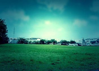 草原, 町, 屋外, 春, 晴れ,ホラー