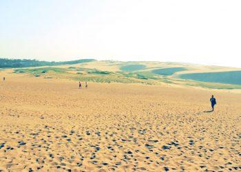 草原,砂丘,アウトドア,屋外,晴れ,昭和レトロ