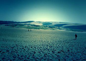 草原,砂丘,アウトドア,屋外,晴れ,ホラー