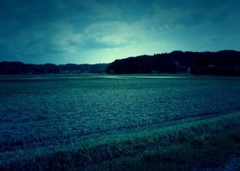 草原,村,屋外,春,曇り,ホラー