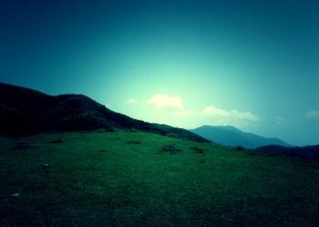 草原,アウトドア,晴れ,屋外,夏,ホラー