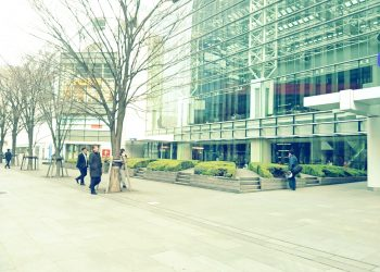建物前,都市,屋外,冬,曇り,昭和レトロ