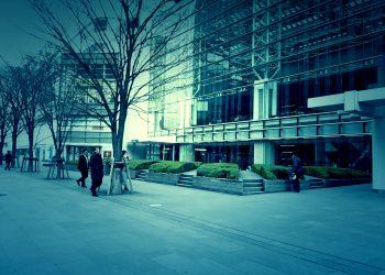 建物前,都市,屋外,冬,曇り,ホラー