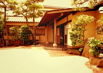 和風,日本家屋,建物前,夏,屋外,晴れ,ヴィンテージ