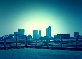展望,都市,屋外,秋,晴れ,ホラー