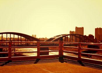 展望,都市,屋外,秋,晴れ,ヴィンテージ