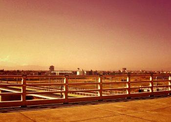 展望,町,屋外,秋,晴れ,ヴィンテージ