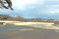 展望,町,秋,屋外,曇り