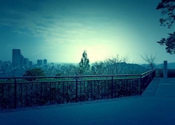 展望,都市,秋,屋外,曇り,ホラー