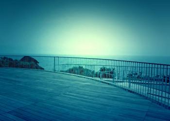 展望,町,曇り,屋外,夏,ホラー