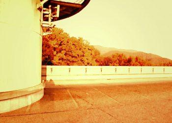 展望,村,屋外,秋,晴れ,ヴィンテージ