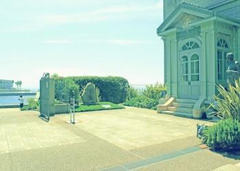 洋館中庭,夏,屋外,晴れ,晴れ,昭和レトロ