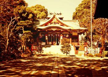 神社,町,和,屋外,夏,晴れ,ヴィンテージ
