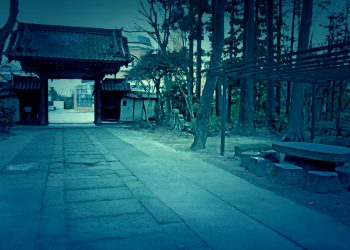神社, 町, 屋外, 冬, 曇り,和風伝奇,ホラー