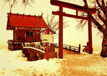 神社,村,冬,屋外,雪,ヴィンテージ