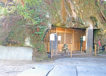 神社,村,秋,屋外,曇り