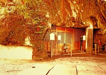 神社,村,秋,屋外,曇り,ヴィンテージ