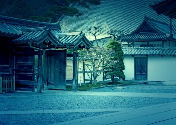 神社,町,屋外,秋,ホラー