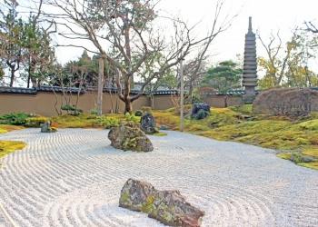 日本庭園,屋外,秋,曇り