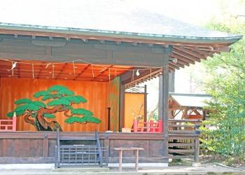 神社,日本庭園,和,冬,屋外