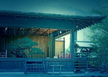 神社,日本庭園,和,冬,屋外,ホラー