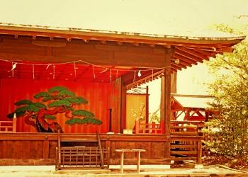 神社,日本庭園,和,冬,屋外,ヴィンテージ