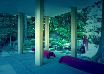 神社,日本庭園,屋外,晴れ,夏,ホラー