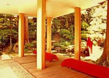 神社,日本庭園,屋外,晴れ,夏,ヴィンテージ