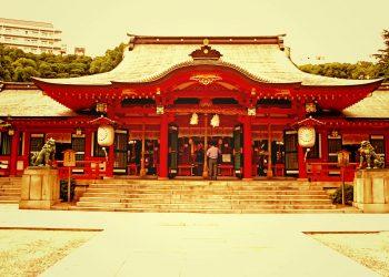 神社,町,屋外,夏,晴れ,ヴィンテージ